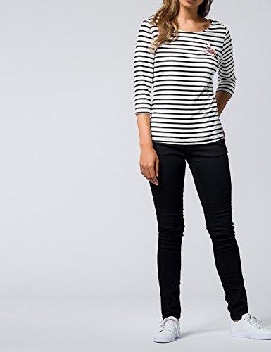 zero Damen Ringelshirt mit Pailletten 763673 Black