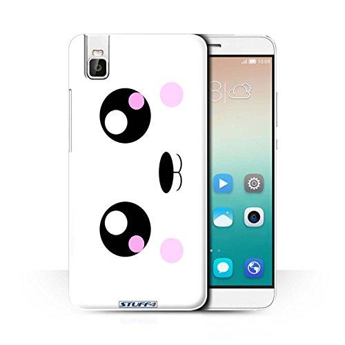 Stuff4® Hülle/Case für Huawei Honor 7i/ShotX/Panda Muster/Nette Kawaii Kollektion
