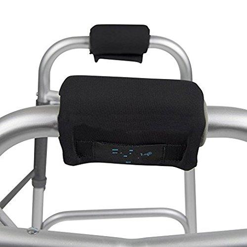QEES YZZ06 - Juego de 2 almohadillas para manillar, acolchadas de espuma contorneada, ajustables, color negro, para silla de ruedas, paseos médicos, equipaje, herramientas