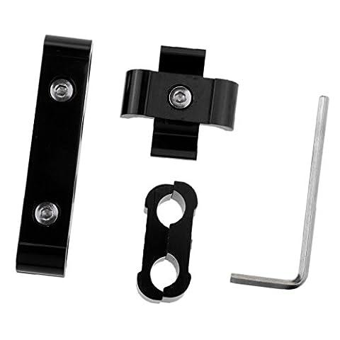 MagiDeal Diviseur de Spark Plug Ignition Lead Fil Câble Separator 8mm 9mm 10mm - Noir