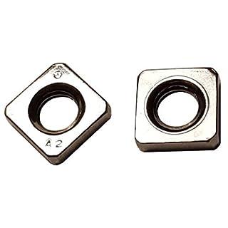 25 STK M4 Vierkantmutter niedrige Form, DIN 562 Edelstahl A2, Einlegemutter, Quadratmutter