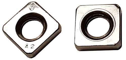 25 STK M6 Vierkantmutter niedrige Form, DIN 562 Edelstahl A2, Einlegemutter, Quadratmutter