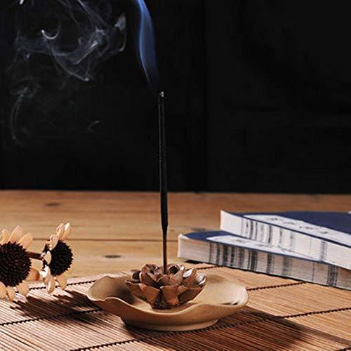 DaTun648 Duftende Räucherstäbchen-Räucherstäbchenhalter Home Zen Räucherstäbchen-Räucherstäbchenhalter Lotus Incense Incense Burner Xiangtai Indoor
