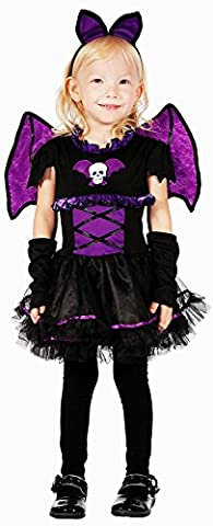 fledermaus kostüm kinder kinderkostüm mädchen (110/116) (Mädchen-kostüm Für Kinder)