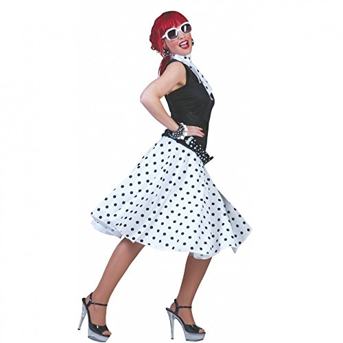 weiß, mit Halstuch, 60er Jahre Rockn Roll Formation Tanzen Elvis (60's Rock And Roll Kostüme)
