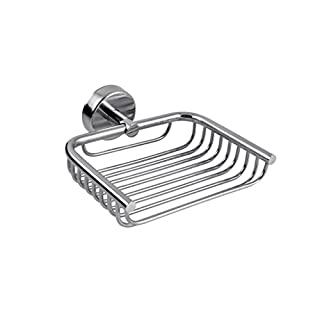 Kapitan Stainless Steel Soap Dish Holder Shower Bathroom Tray, 3M Self-Adhesive or Screws Mounting, AISI 304 18/10, Polished Finish, Made in EU, 20 Years Warranty