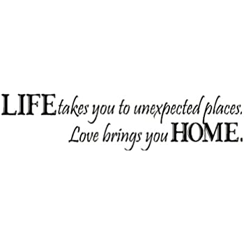 """Restly """"Life takes you to unexpected places.Love brings you home.""""English Proverbs Wall Stickers Decor Living Room Wall Stickers Decor"""
