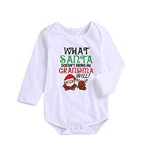 Heecaka Neugeborenen Baby Mädchen Jungen Langarm Weihnachten Brief Print Strampler Overall