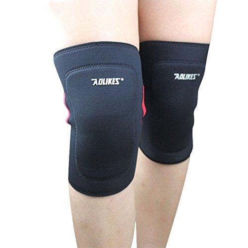 Hankyky Herren Damen Knieschoner Atmungsaktiv Einstellbare Kniestütze Protector für Sport Crossfit Fitness Jogging Laufen Single Pack