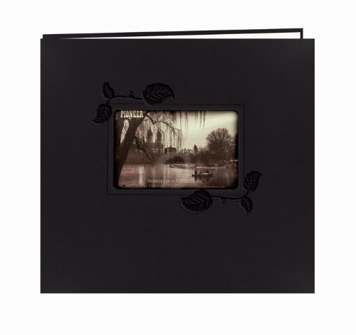 pioneer-12-x-12-inch-black-with-ivy-embossed-leatherette-post-bound-album-multi-colour