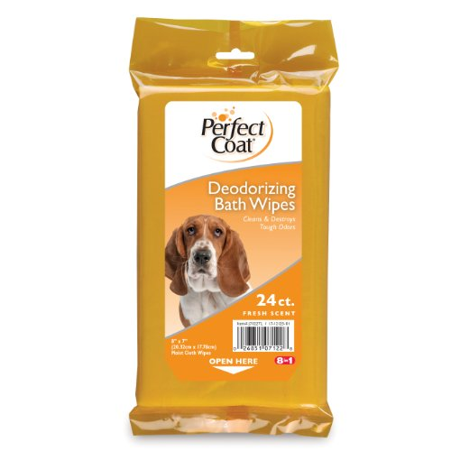 Artikelbild: Perfect Coat Deodorizing Bath Wipes for Dogs, 24-Count (J7122TL) by Perfect Coat