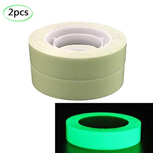 (Glow in the Dark Klebeband grün hell leuchtend Klebeband Aufkleber ablösbar wasserdicht Sicherheitswarnung Klebeband zur Dekoration Beleuchtung von Objekten bei Nacht, grün)