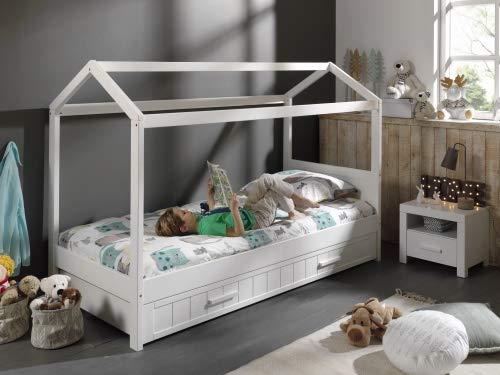 Vipack Hausbett weiß  mit Bettschublade