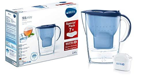 BRITA Kit Marella con 7 filtri MAXTRA+ - Caraffa filtrante per acqua,...