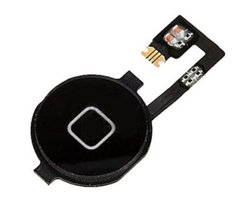 Noir Cable Flex de Bouton Home Bouton d'accueil pour Apple iphone 4