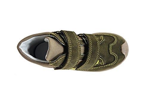 SUPERFIT 3-00432-34 Scarpa Con Tomaia in Camoscio e Tessuto, Fodera con Gorotex e Suola in Gomma, Stappi, BAMBINO GRUN