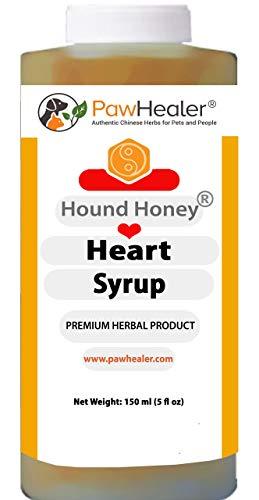 PawHealer Honig-Herz-Sirup - Pflanzliche Heilmittel für Hunde Husten oder Würgen und Keuchen wegen Herz 150 ml (5 FL oz)