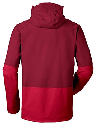 Vaude Herren Roccia Softshell Hoody Jacke indian red