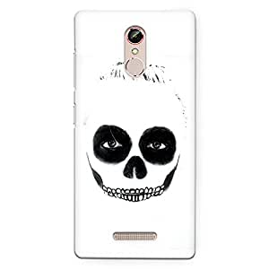 CrazyInk Premium 3D Back Cover for Gionee S6s - Deadly Face Makeup