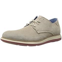 Skechers Watford - Zapatos de cordones de otras pieles para hombre Beige Beige (Tan)
