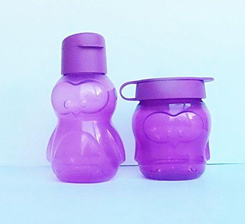 tupperware-botella-ecologica-en-forma-de-pinguino-color-morado-de-350ml-para-ninos