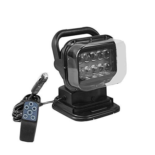 Car LED Remote Control Light Outdoor Work Light Marine Spotlight Car Remote Control Ceiling Lamp Searchlight Marine Remote Spotlight