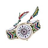 gysad Orologio da polso Stile hippie Orologio AL Quarzo Donna Design di ordendo Orologio da polso Donna modello di piume Orologio AL Quarzo Vintage stile-6