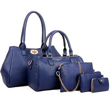 La donna pu formale / Esterni / Ufficio & Carriera Set borsa,blu Wine