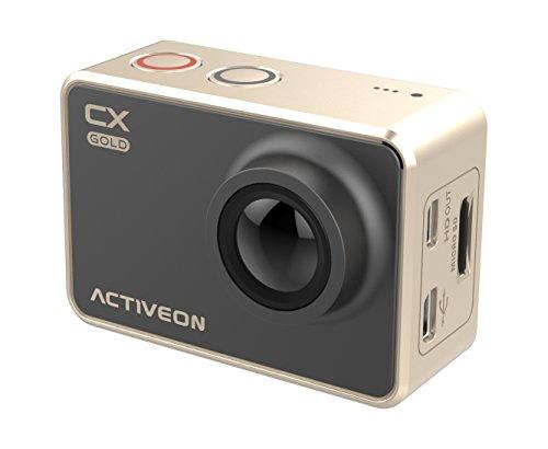 Cámara acción deportiva CX GOLD ACTIVEON GCA10W - Dorada, pantalla táctil, 1080, stero, Wifi, estabilizador digital, sumergible 60mtros
