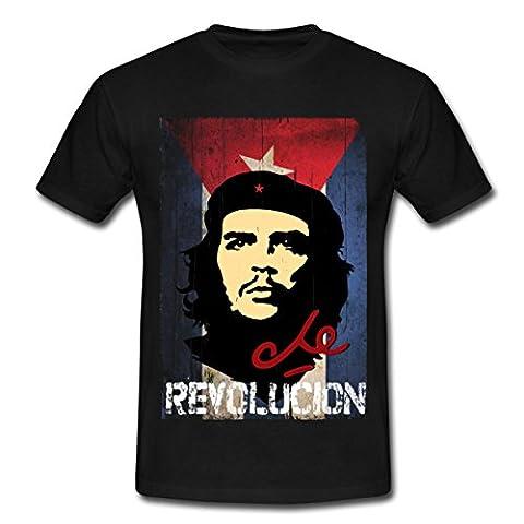 Révolutionnaire Cubain - Che Guevara Drapeau Cubain Revolución T-shirt Homme