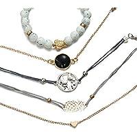Jewels Galaxy Ravishing Note Love Design Gold Plated Elegant Bracelets for Women/Girls