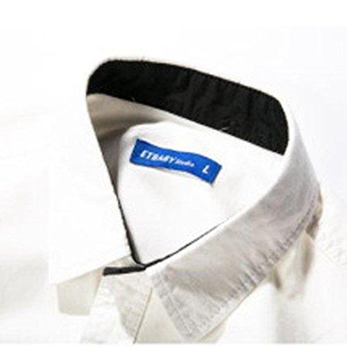 Honghu Herren Mischfarben Freizeit Hemden Weiß