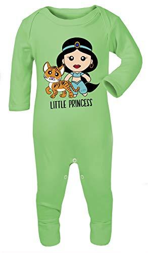 in Prinzessin Jasmin Print Kostüm Footies 100% Baumwolle hypoallergen Gr. 68, grün ()