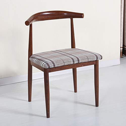 seeksungm Chaise, simple imitation bois Horn Chaise, faible teneur en carbone de l'environnement Restaurant Chaise, simple Casual Fauteuil, Total hauteur 75 cm * Largeur 47 cm, vieil orme