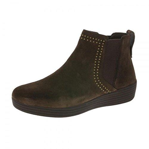 Fitflop Damen Superchelsea Studs Stiefel - Schokolade Wildleder, Braun, 38 (Schokolade Schuhe Elastische)
