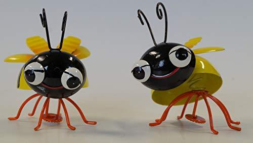 HOLZWURM Biene als Magnet in gelb-schwarz 2er Set -