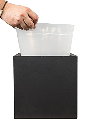 PFLANZWERK® Les planteurs utilisent une insertion en plastique pour tous les CUBE modèles 28x28x28cm *résistant au gel * produits de qualité* - Benna Caso