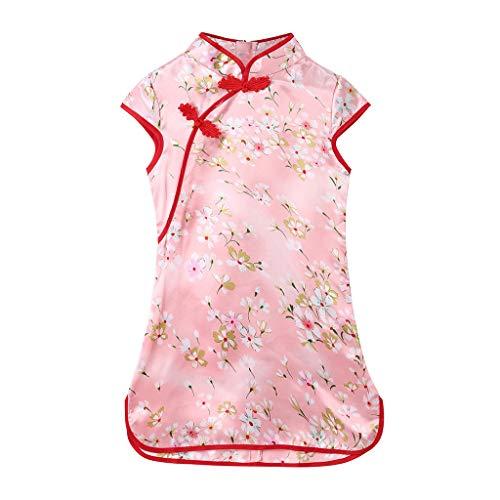 Julhold Kleinkind Baby Mädchen Nette Kinder Blumen Cheongsam Floral Party Prinzessin Polyester Kleider 3-12 Jahre -