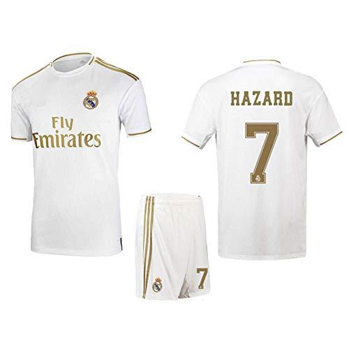 SEYE1° Tuta Sportiva da Calcio Maglia del Real Madrid 7 ° Abbigliamento Sportivo da Calcio Hazard Maglietta da Calcio per Bambini