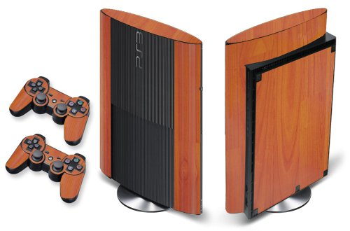 247Skins - Sticker de Protection pour Console PS3 ULTRA SLIM Playstation 3 Sony + 2 Stickers pour Manette PS3 Sony - Wood Grain -Light Oak
