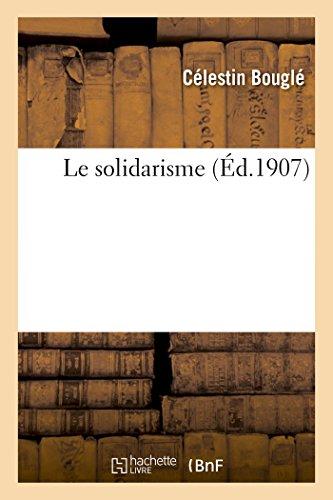Le solidarisme par Célestin Bouglé
