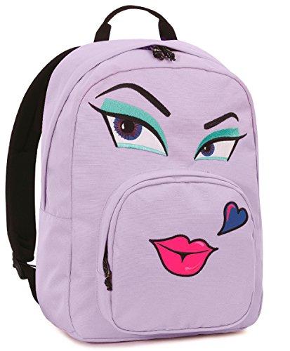 Zaino invicta , ollie pack face , 25 lt , rosa , tasca per portatile  e tablet