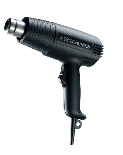 Steinel Heißluft-Pistole HL 1400 S, 1400 W Heißluftfön, 300/500°C, 240/450 l/min, Grill anzünden, schrumpfen, trocknen