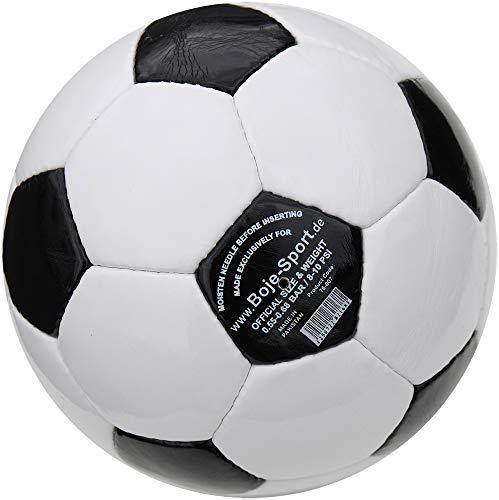 Boje Sport Ballpaket 10er Set - Fußball klassisch - Farbe: schwarz/weiß, Größe 4 - traditionell handgenäht - ohne Werbeaufdruck