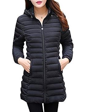 Mujer Abrigo de Invierno Acolchado Chaqueta de Manga Larga con Capucha para Mujer