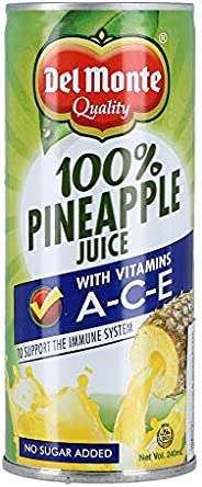 Del Monte Unsweetened Pineapple Juice - 240 ml
