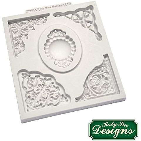 Katy Sue Designs - Stampo in silicone per decorazione torte, cupcake, pasta di zucchero e marzapane, a forma di stella angolare