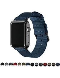 Archer Watch Straps | Repuesto de Correa de Reloj de Nailon para Apple Watch, Hombre y Mujer | Azul Marino/Negro,…