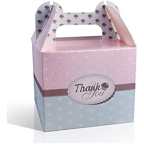 Confezione da 10e pois cuore Design Cupcake favore scatole regalo xp042