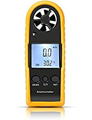 GOCHANGE Windmessgerät, LCD Dispaly Windmesser Digital Anemometer Messinstrument handheld für Seefahrt Fischen